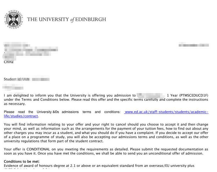 双非院校,高绩点获爱丁堡大学录取