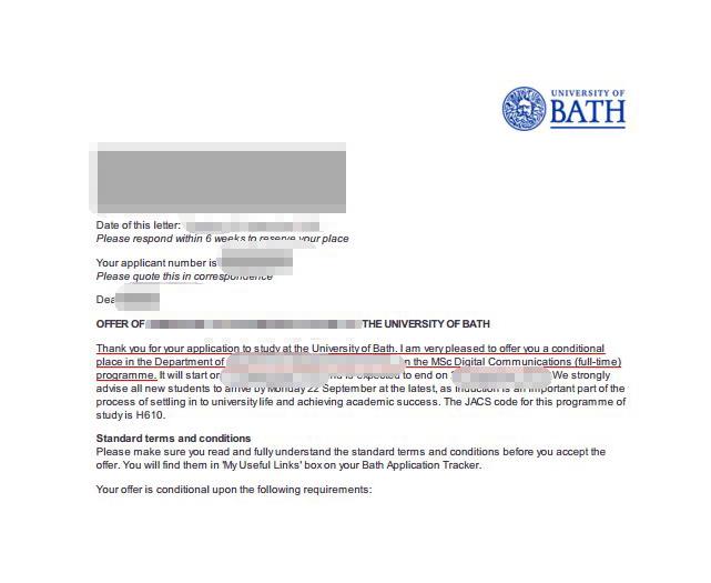 巴斯大学留学案例:相关工作经验在申请时是非常有利的条件