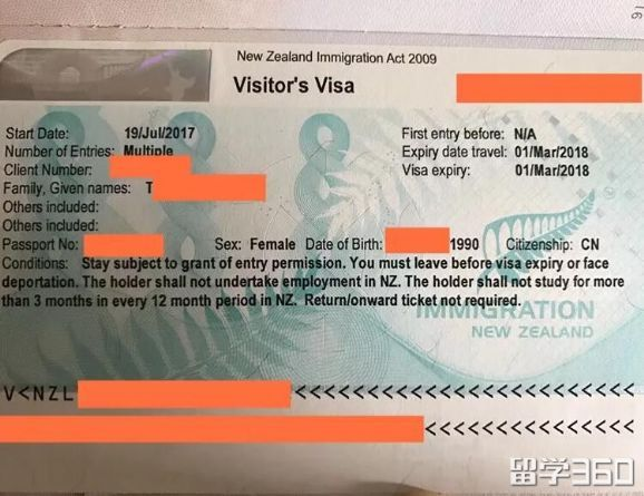 一家三口可以团聚!恭喜K同学通过我们办理新西兰陪读签证获签!
