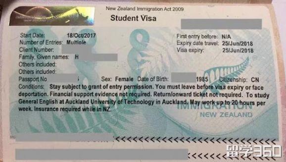 没有电话调查获签!H同学读AUT顺利获得qile518学生签证!
