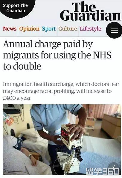 天呐!英国签证NHS健康附加费用将翻倍?