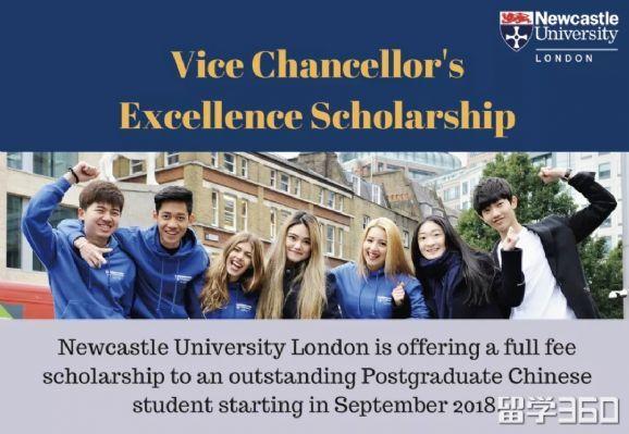中国留学生专属!纽卡斯尔大学伦敦校区发布2018全额硕士奖学金!
