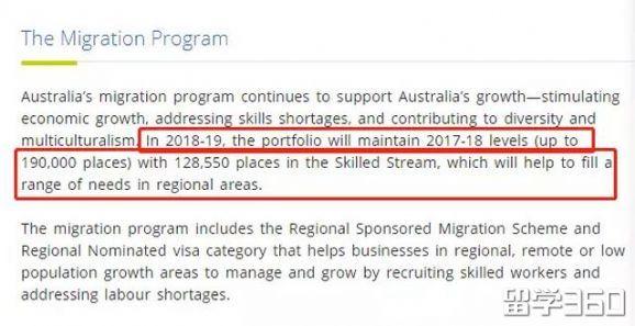 2018-19新财年澳洲移民配额公布!总额还是19万!