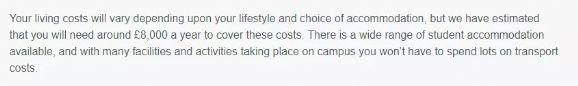 英国大学生活费官方标准,来看看你要带多少钱才够