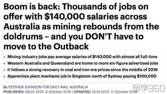 澳大利亚技术移民急需12万人,6大紧缺职业曝光,年薪$14万职业狂招人?