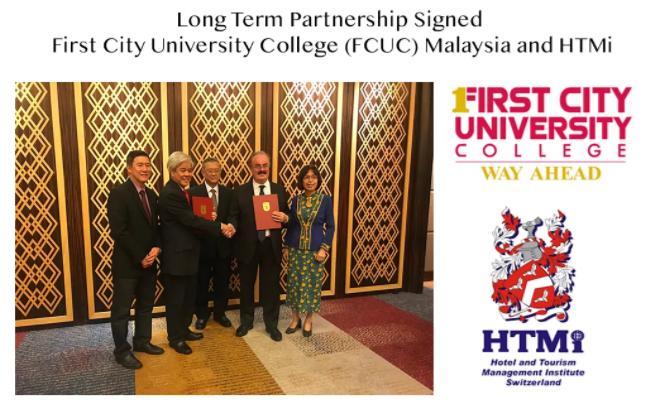 祝贺HTMi与马来西亚第一城市大学(FCUC)建立长期合作关系