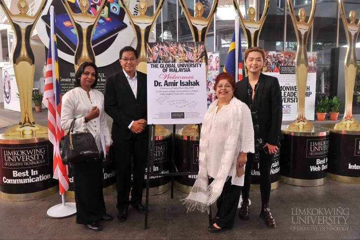 林国荣创意科技大学加入了马来西亚全球和平日