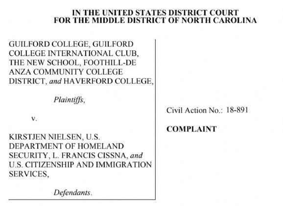签证新政,这4所大学要起诉美国移民局!