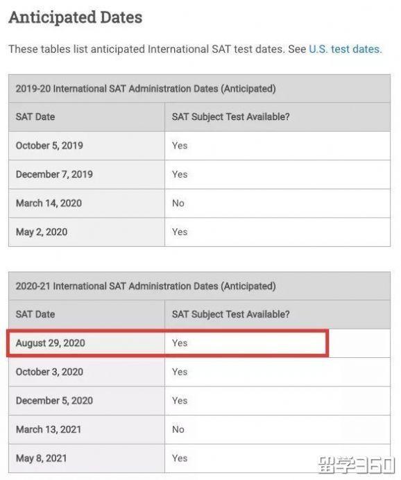 开心!SAT考试时间调整,亚太考区2020年或新增8月考试
