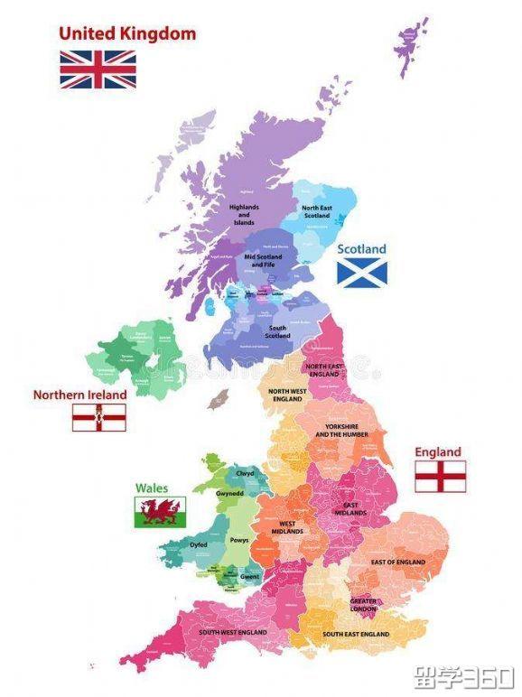 英国留学地区分布
