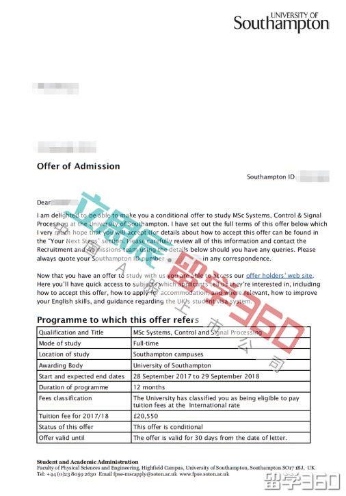南安普顿大学留学案例:考虑学校排名的同时兼顾课程专业方向