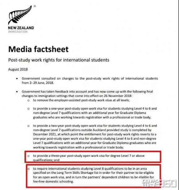 新西兰留学新政正式出台,对留学移民有何影响?