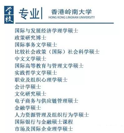 考研的朋友们看过来,香港岭南大学硕士来啦!