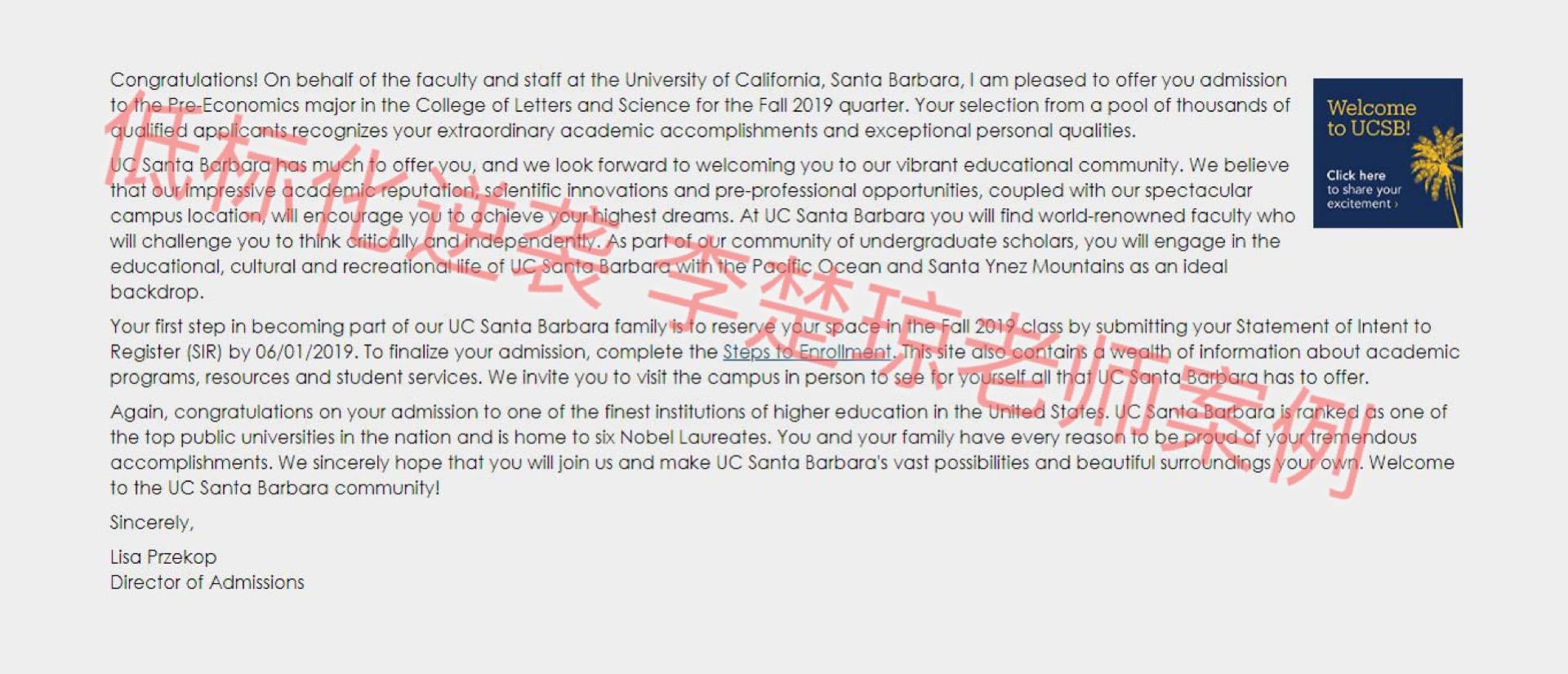 托福72分,他是如何申请到美国TOP30-加州大学圣芭芭拉分校