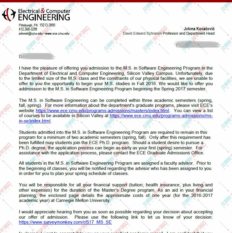 专业规划+默契配合=卡耐基梅隆大学CS专业录取!
