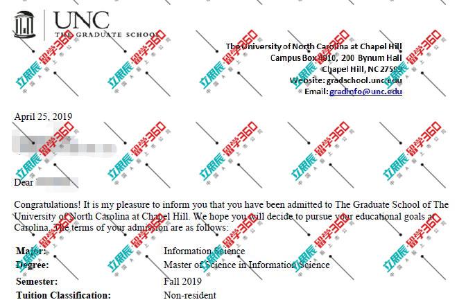 制定专业方案,策略选校迎来北卡大学教堂山分校offer!
