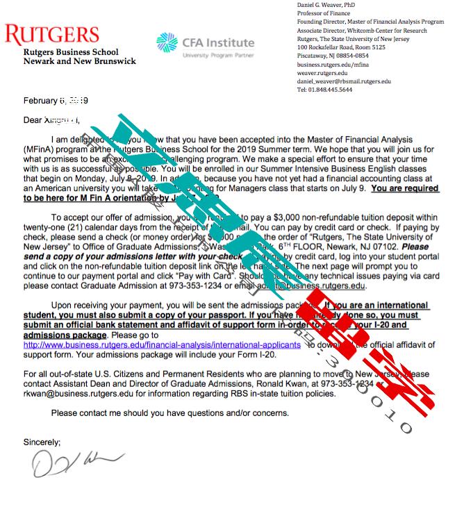 反复沟通,规避误区,成功申请罗格斯大学offer!