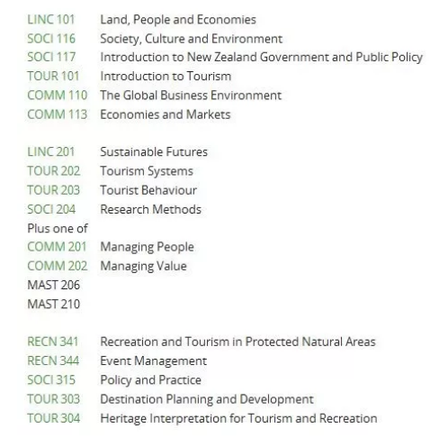 新西兰留学读酒店管理专业:新西兰大学院校课程推荐