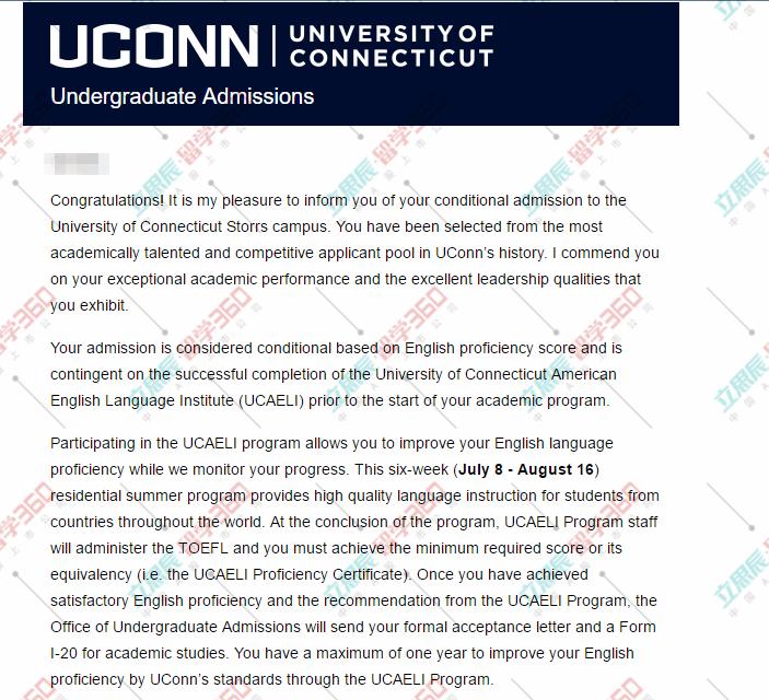 在申请过程中成就最优秀的自己,恭喜拿下康涅狄格大学本科offer!