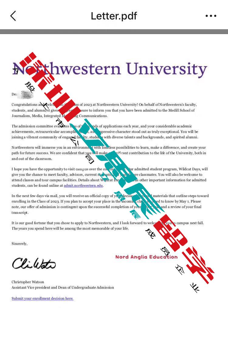 科研助力,高质量文书敲开西北大学录取大门!