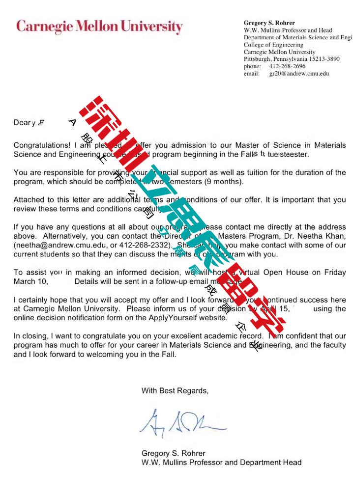 精准定位,合理规划申请,终获卡耐基梅隆大学录取!