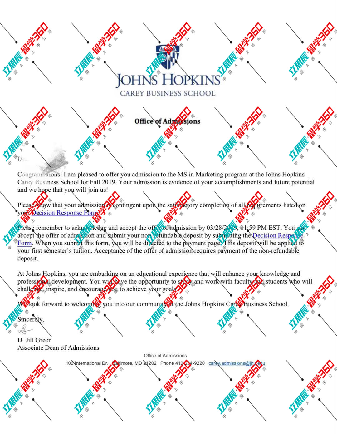 提升背景,推敲文书,终获约翰霍普金斯offer!