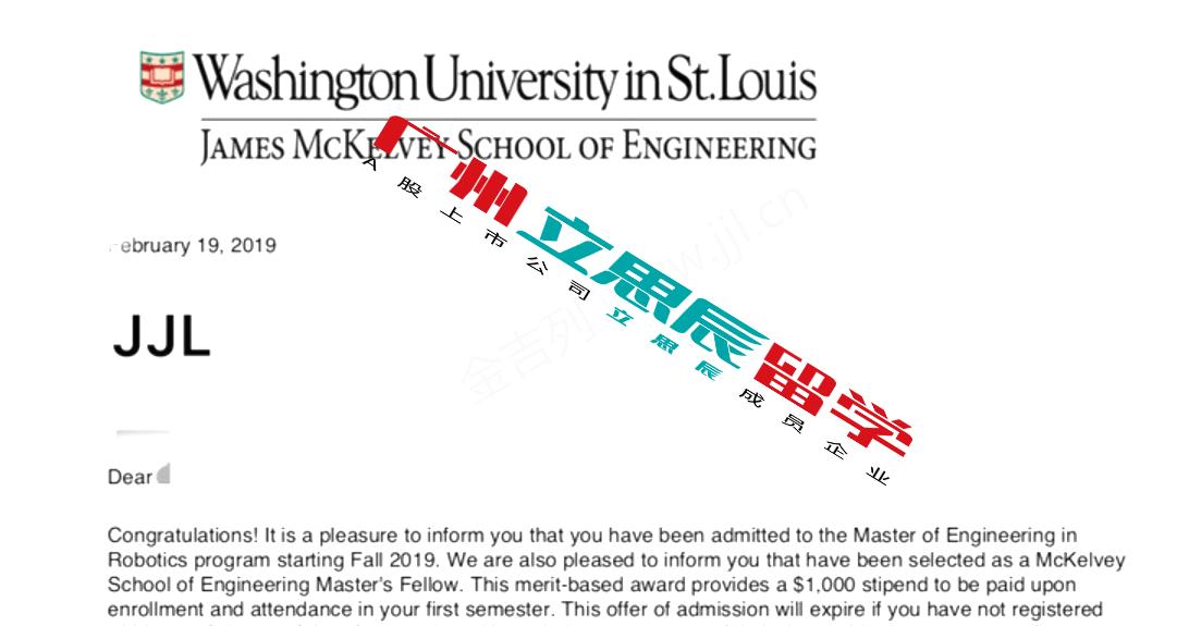 坚定目标,对专业的热爱斩获圣路易斯华盛顿大学机器人硕士录取
