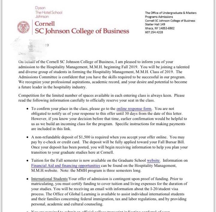 突破短板,挖掘亮点终获康奈尔大学offer!