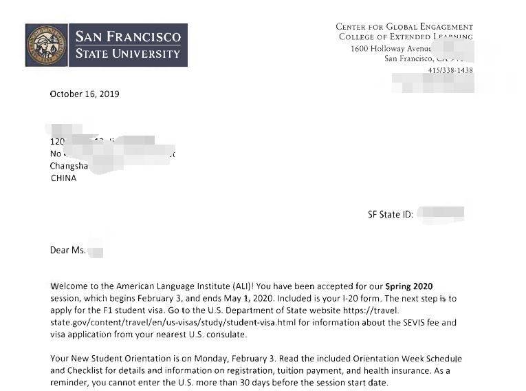 毕业3年,无语言获录圣何塞州立大学大众传媒专业!
