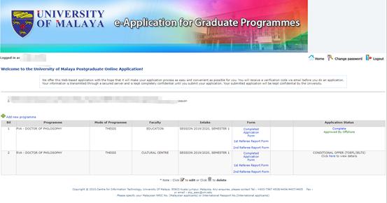 因为信任,所以相遇!恭喜I同学马来亚大学录取!