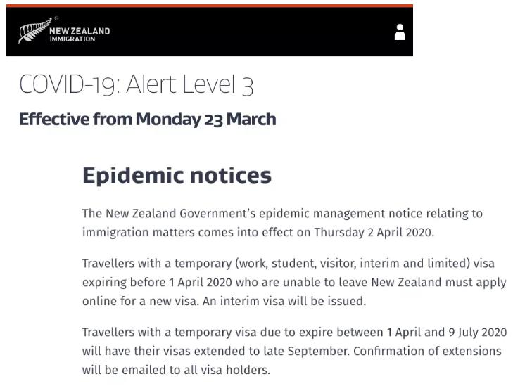 """新西兰移民局""""大赦""""延长临时签证有效期"""