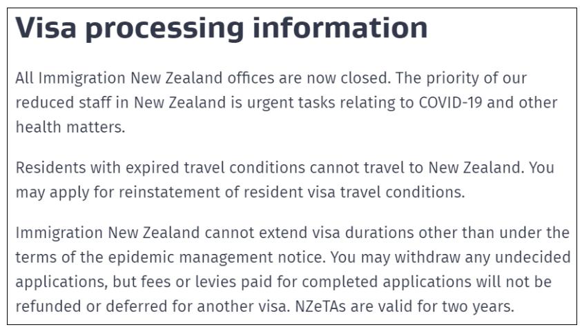 重要通知:新西兰移民局所有办公室关闭!技术移民、父母团聚移民处理暂停