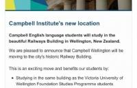 ACG学术教育集团新收购的惠灵顿语言学校坎贝尔搬迁了!