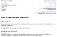 恭喜安徽W同学顺利获奥克兰大学教育学研究生录取通知书!