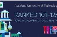 2018泰晤士报高等教育学科排名 AUT临床与健康学科居新西兰第2位