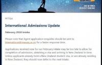 新西兰梅西大学新生注意了!2月份申请已截止,新的申请将延后下次开学!