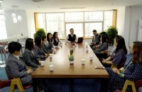 立思辰留学360团队访问朗阁教育集团