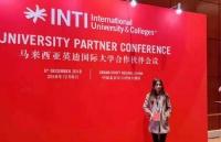 立思辰留学360张书玲老师受邀参加马来西亚英迪国际大学合作会议