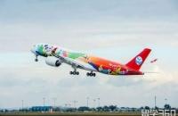 新西兰留学新航线:川航熊猫彩绘A350首飞成都=奥克兰航线