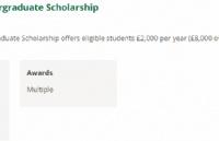 斯特林大学2000英镑奖学金申请条件
