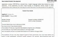 最后一批担保金走专用账户学生!恭喜江苏X同学获新西兰学生签证!
