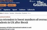 英国留学生签证可以最多延长一年啦!!!曾经的两年PSW还会远么?