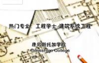 康尼斯托加热门专业推荐:工程学士-建筑系统工程