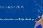2019年最新世界大学学科排名:新西兰大学世界Top 50 学科排名