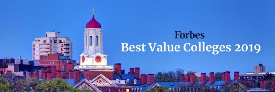 2019年福布斯最具价值美国大学排名,第一名居然是他!