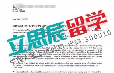 申请时间紧,优质申请文书助力L同学顺利拿下新加坡国大offer!