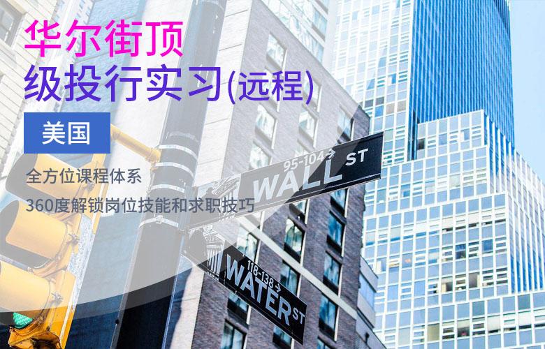 美国华尔街顶级投行实习(远程)