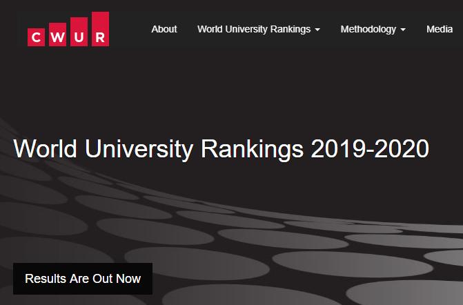 2020年CWUR世界大学排名出炉!英国院校表现出众