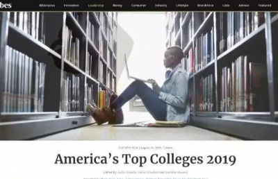 """福布斯2019年美国最佳大学排行榜发布!美国""""超级五强""""(Super Five)排名领先"""