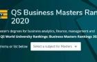 2020年QS全球商科硕士排名出炉!英美呈现绝对优势